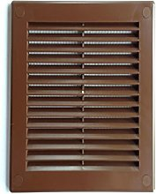 Brown Air Vent Grille 180mm x 250mm with Fly