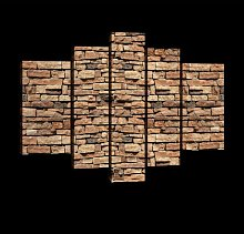 Brown Brick Wall Photographic Print Multi-Piece