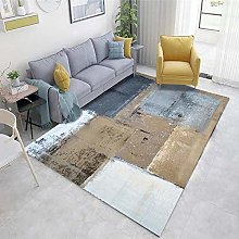Brown Cheap Area Rug Abstract ink pattern living