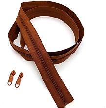 Brown Continuous Zip & Sliders No. 3 Zippers