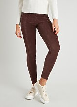 Brown Corduroy Leggings - 8