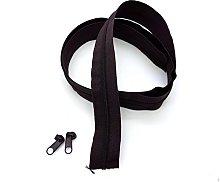 Brown Dark Continuous Zip & Sliders No. 3 Zippers