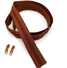 Brown Dark Continuous Zip & Sliders No. 5 Zippers