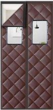 Brown Door Draft Curtain with Transparent Window