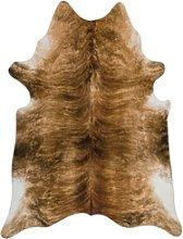 Brown Faux Cowhide Rug - 190x240cm