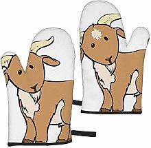 Brown Goat Oven Mitts,Heat Resistant Non-Slip