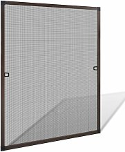 Brown Insect Screen for Windows 80 x 100 cm