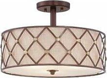 Brown Lattice ceiling light, copper