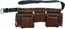 Brown Leather 11 Pocket Double Tool Belt Tools XP