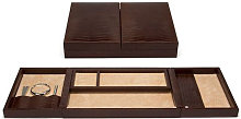BROWN LEATHER VIP DESK BOX