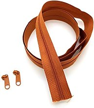 Brown Light Continuous Zip & Sliders No. 3 Zippers