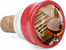 Brown Liquor in Cup with Cigar Wine Cork Wine