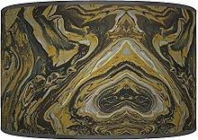 Brown Marble Abstract Lampshade - Handmade Shade -