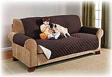 Brown Quilted Sofa Protector Slip Throw Water