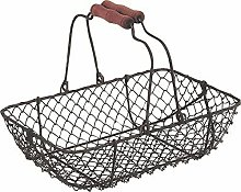 Brown Rectangular Storage Basket Trumpet mesh