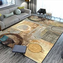 Brown ring Cotton area carpet woven indoor area