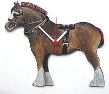 Brown Shire Horse Clock - HO3