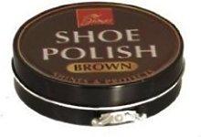 Brown shoe polish 80g tin