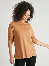 Brown Slouch Sleeve Top - 16