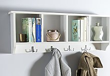 Brown Source Wall Mounted Cabinet Coat Hooks White