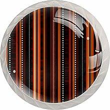 Brown Stripe | Modern Minimalist Printing Cupboard