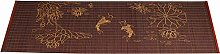 Brown Tea Set Table Placemat with Fish Pattern,
