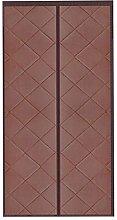 Brown Tropical Curtains 100x220cm/39.4x86.7in