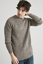 Brown Twist Knit Jumper - XXL