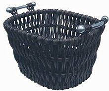 Brown Willow Log Basket - Fireplace Fuel Storage -
