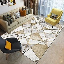 Brown-yellow geometric abstract art marble