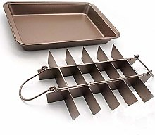 Brownie Pan with Divider Non Stick Easy Bake &