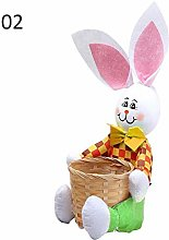 Brownrolly ✿2pcs Bunny Ear Doll Easter Egg