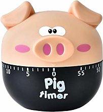 Brownrolly Novelty Piglet Food Cooking Timer,