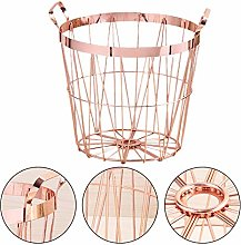 Brownrolly Rose Gold Wire Storage Basket and Waste