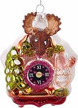 BRUBAKER Cuckoo Clock Moose Coloured - Handpainted