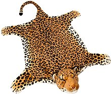 BRUBAKER Leopard Rug - 51 x 47 Inches (130 x 120
