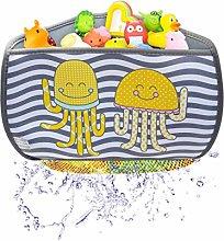 brunoko Corner bath toy storage bag + tap extender