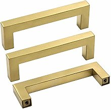 Brushed Brass Cupboard Handles Kitchen 102mm (4in)