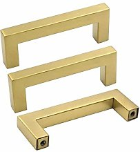Brushed Brass Cupboard Handles Kitchen 76mm (3in)