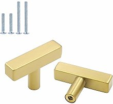 Brushed Brass Drawer Handles Cabinet Knobs