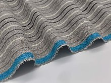 Brushed Grey Stripe Upholstery Fabric Fire