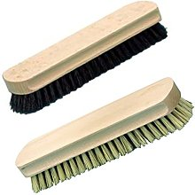 Brushmann Shoe Brushes - 1 Dark + 1 Natural Fibre
