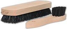 Brushmann Shoe Polish Brush + Polish Applicator