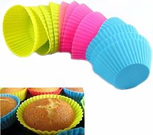 Brussels08 12 Pcs Reusable Round Cake Muffin Cups