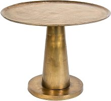 Brute round brass side table