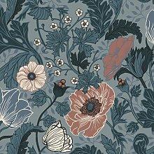 Bryanna 10.05m x 53cm Matte Wallpaper Roll Lily