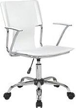 Bryce White Executive Armchair, White
