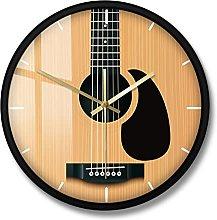 BRYSJ Acoustic Guitar Decorative Wall Clock Music