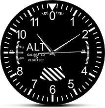 BRYSJ Classic Altimeter Round Wall Clock Modern