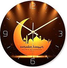 BRYSJ Frameless 3D Wall Clock Decal Muslim Ramadan